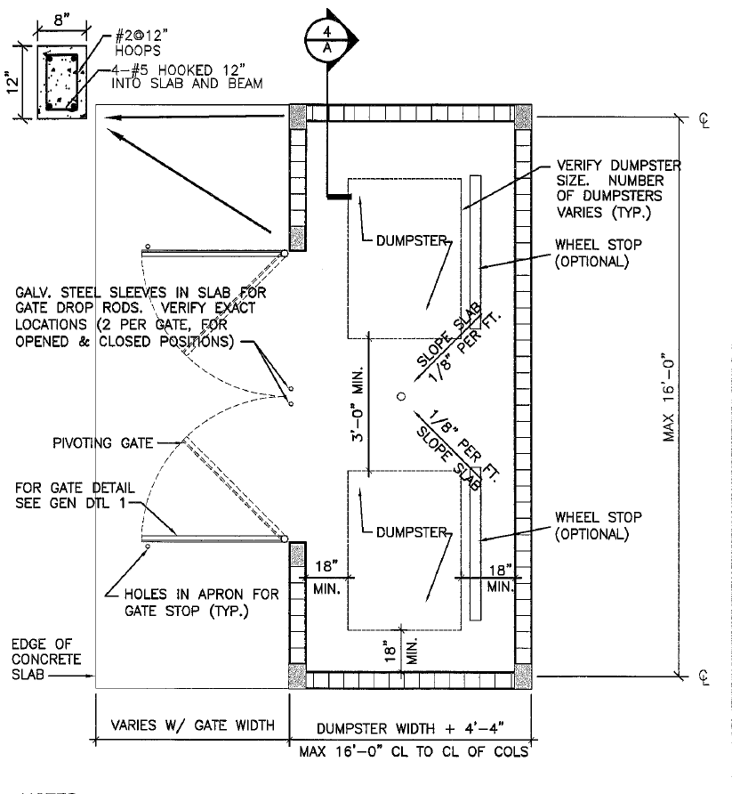 Dumpster Enclosure Drawing