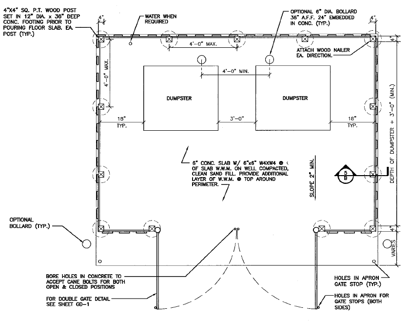 Dumpster Enclosure Drawing 2