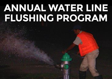 Annual Water Line Flushing Underway
