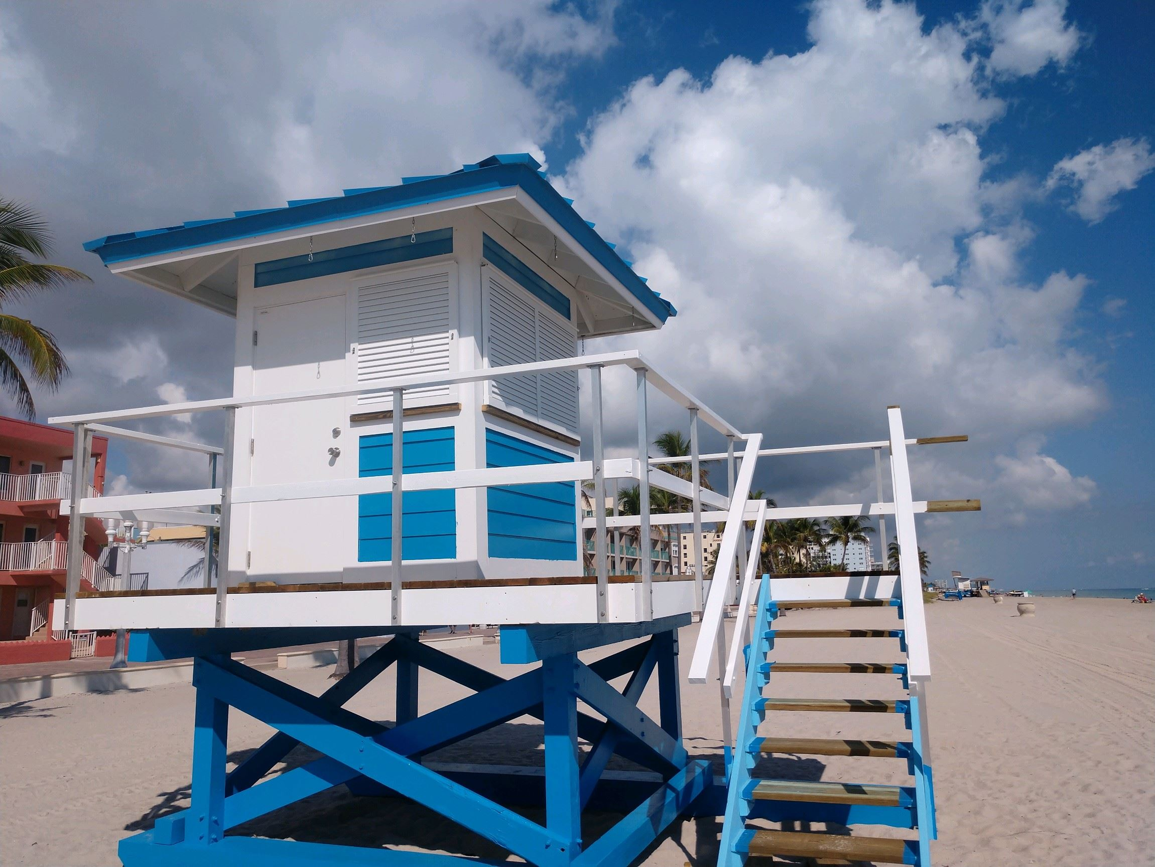 new lifeguard tower installed